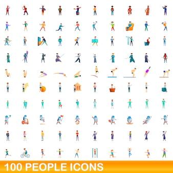 Jeu d'icônes de personnes, style cartoon