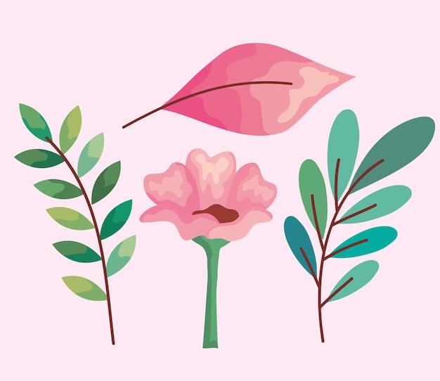 Jeu d'icônes de plantes