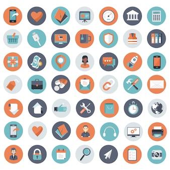 Jeu d'icônes pour site web et applications mobiles