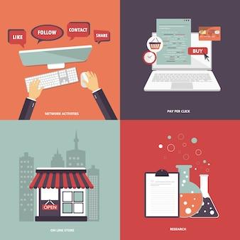 Jeu d'icônes pour sites web et applications mobiles