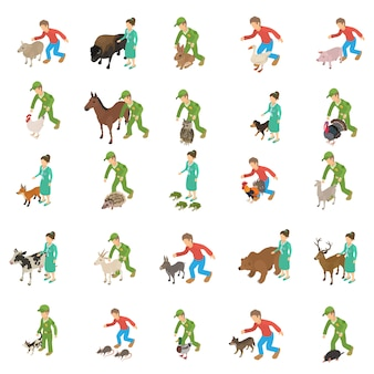Jeu d'icônes de protection des animaux