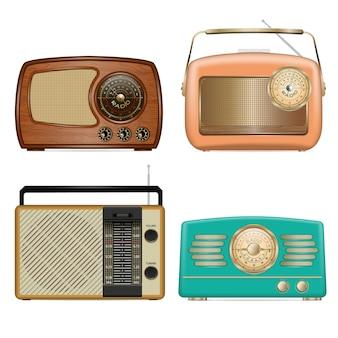 Jeu d'icônes radio