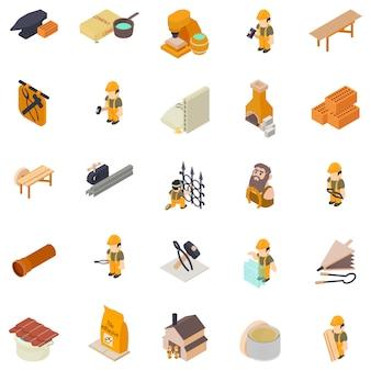 Jeu d'icônes de rénovation de maison