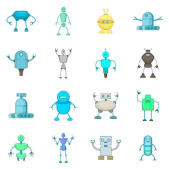 Jeu d'icônes de robot
