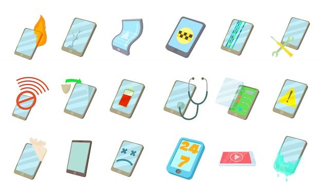Jeu d'icônes de smartphone