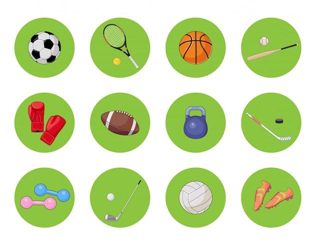 Jeu d'icônes de sport