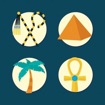 Jeu d'icônes de symboles égyptiens