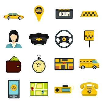 Jeu d'icônes de taxi