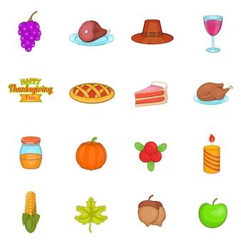 Jeu d'icônes de thanksgiving
