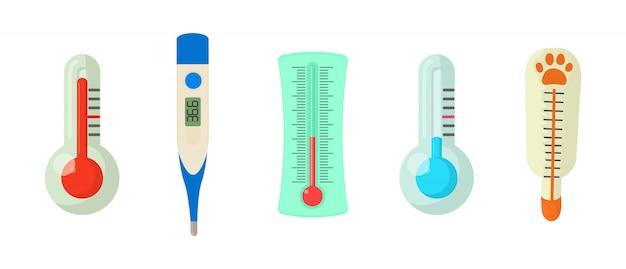 Jeu d'icônes de thermomètre