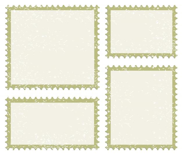 Jeu d'icônes de timbre poste