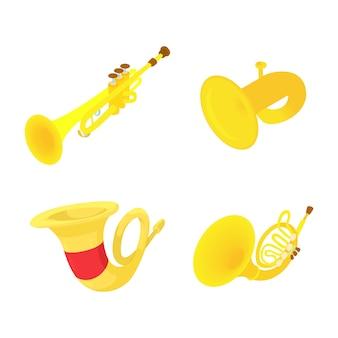 Jeu d'icônes de trompette