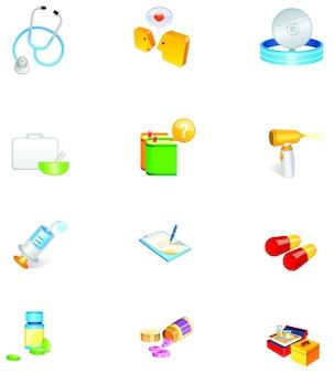 Jeu d'icônes vectorielles matériel médical