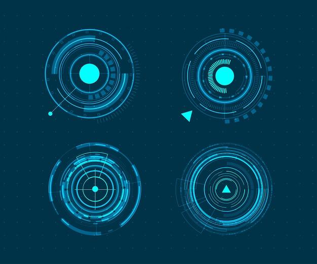 Jeu d'icônes vectorielles technologie cercle design.