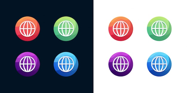 Jeu d'icônes web