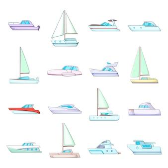 Jeu d'icônes de yachts