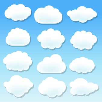 Jeu d'illustration de nuage