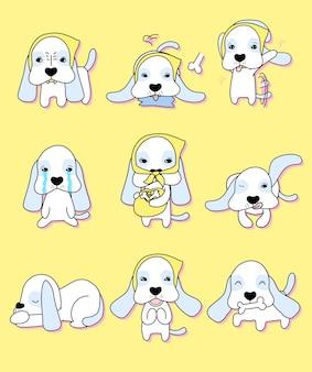 Jeu d'illustration vectorielle de chien