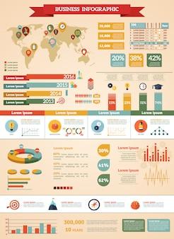 Jeu d'infographie de stratégie d'entreprise
