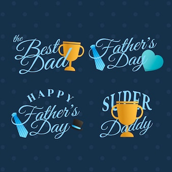 Jeu d'insignes fête des pères