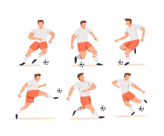 Jeu de joueurs de football de dessin animé