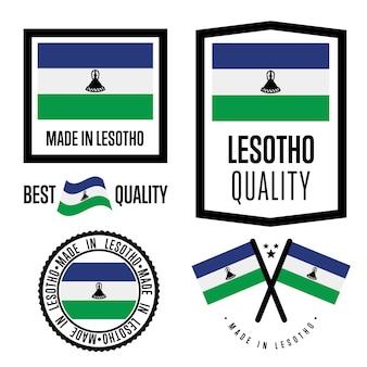 Jeu de labels de qualité du lesotho