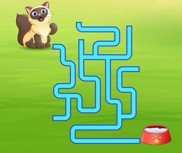 Jeu de labyrinthe de chats trouve son chemin vers le lait