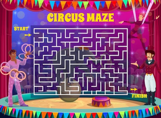 Jeu de labyrinthe labyrinthe sur le cirque de shapito