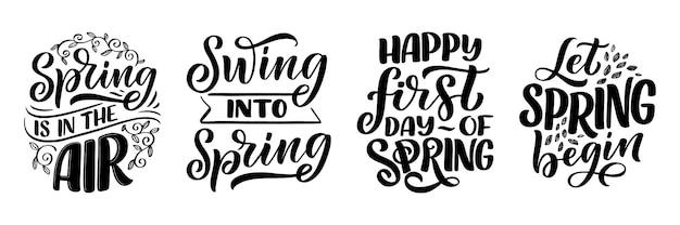 Jeu de lettrage de printemps