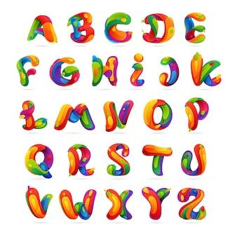 Jeu de lettres de l'alphabet anglais amusant.