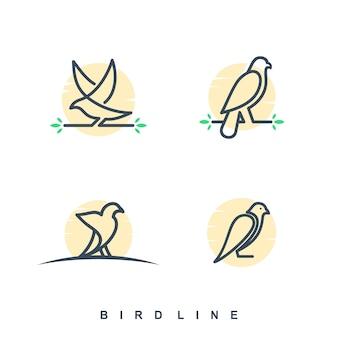 Jeu de logo bird line