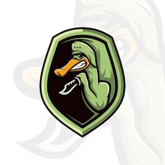 Jeu de logo de canard
