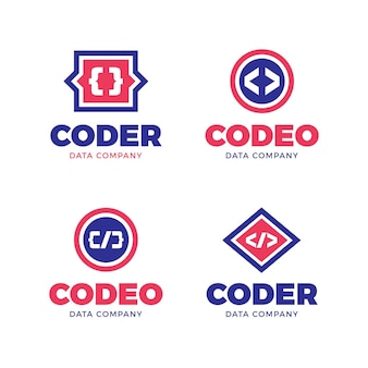 Jeu de logo de code