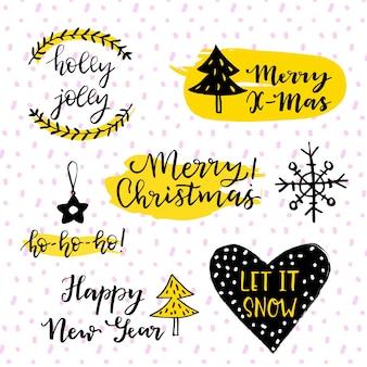 Jeu de logo du nouvel an