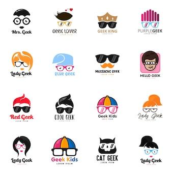 Jeu de logo geek