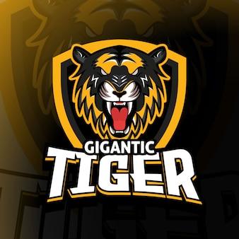 Jeu de logo gigantic tiger esport