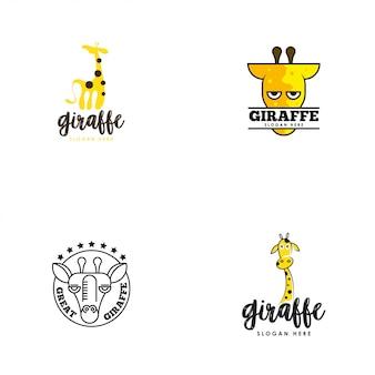 Jeu de logo girafe