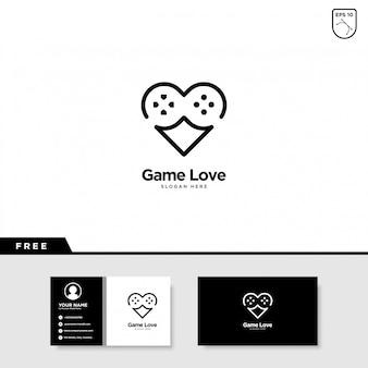 Jeu logo love logo