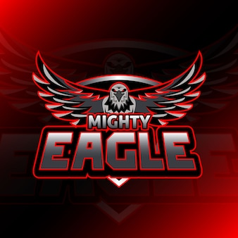 Jeu de logo mighty eagle esport