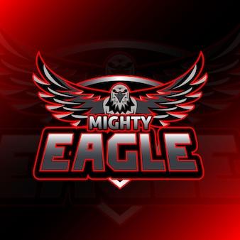 Jeu de logo mighty eagle esport