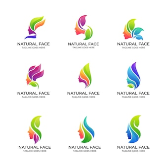 Jeu de logo natural face