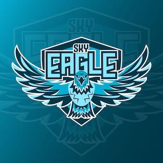 Jeu de logo sky eagle esport