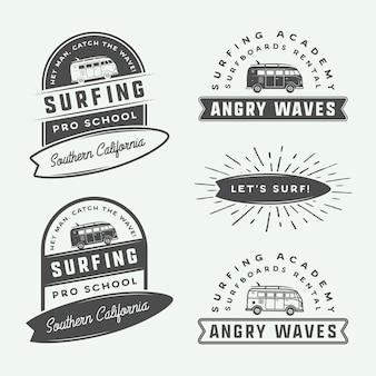 Jeu de logo de surf