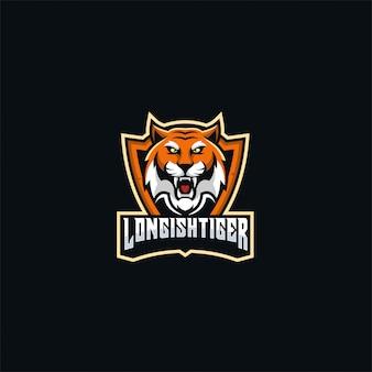 Jeu de logo tiger angry e sport.