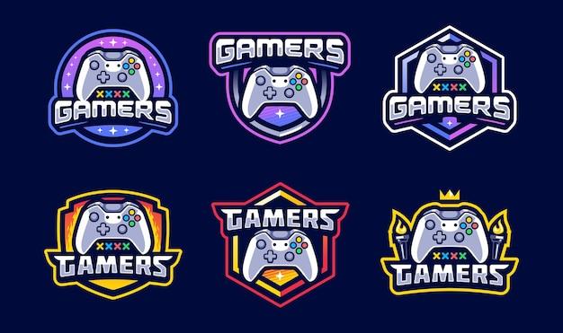 Jeu de logos esport console de joueurs