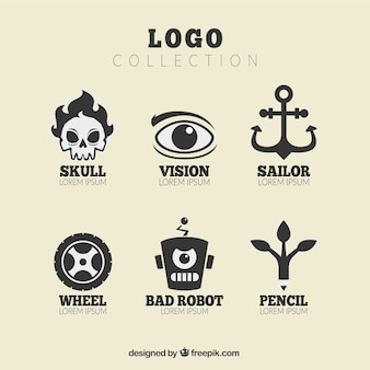 Jeu de logos avec de grands desseins
