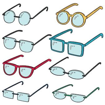 Jeu de lunettes vectorielles