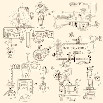 Jeu de machines industrielles