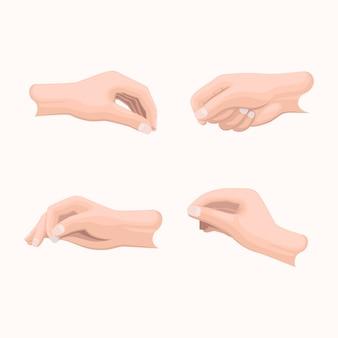 Jeu de main réaliste avec les doigts
