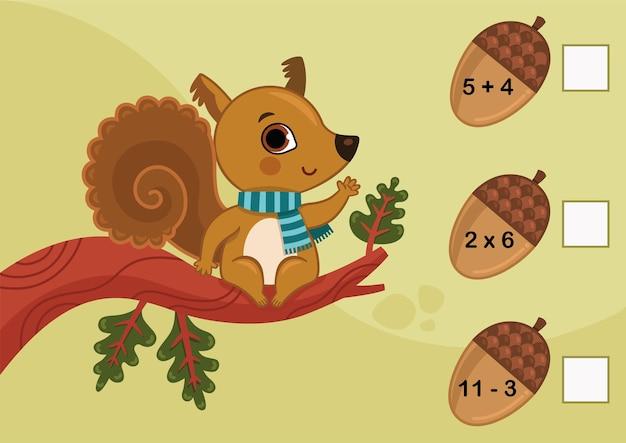 Jeu mathématique éducatif pour les enfants pouvez-vous les résoudre